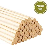 "CAT PALM Long Bamboo Craft Sticks for Crafts and DIY'ers, 12"" X 5/1"",100 Pieces"