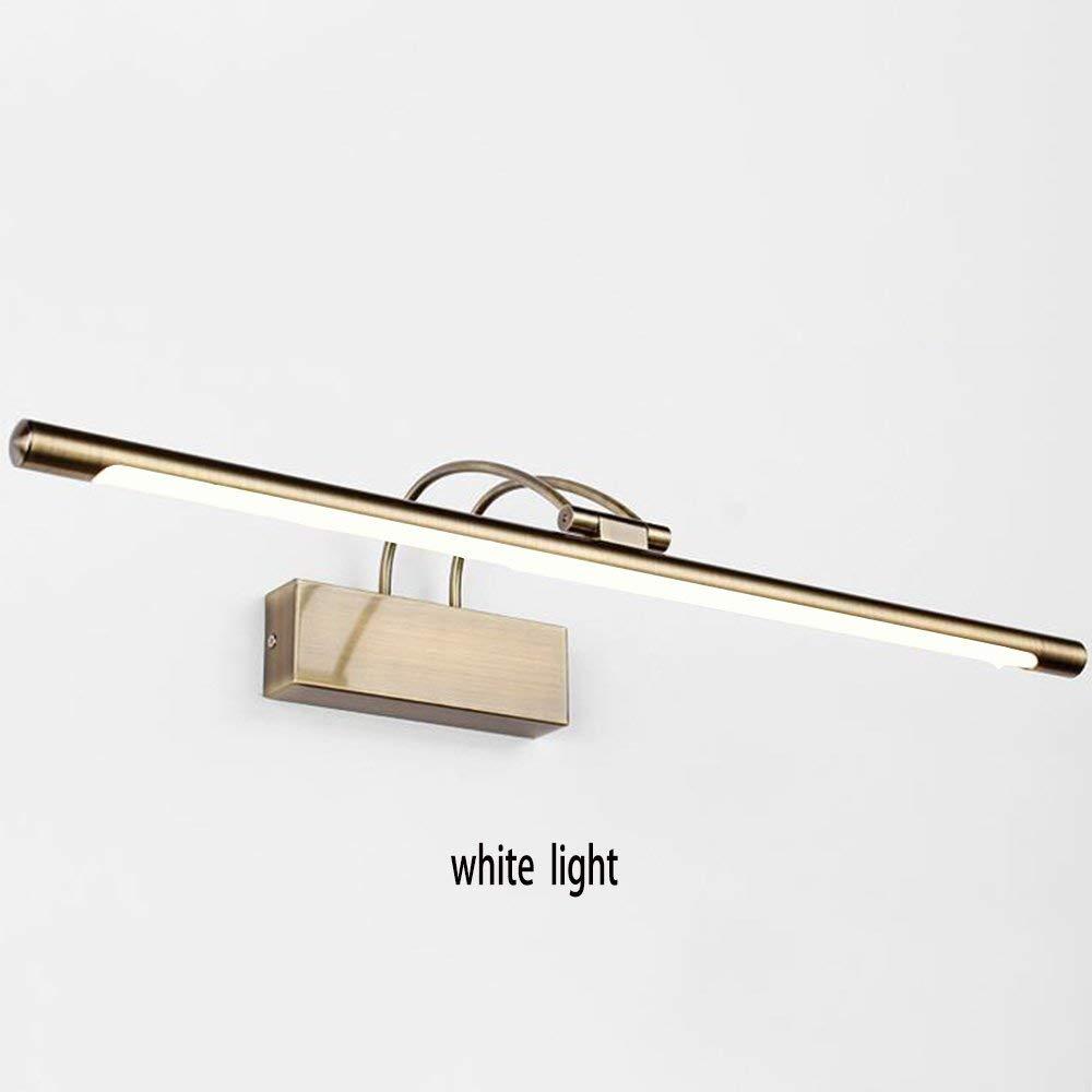 FXING LED Badezimmer Llight galvanischen Integrierte Funktion für LED-Glühbirne, Umgebungslicht Badezimmer Beleuchtung (Farbe  Bronze, weißes Licht, Größe  65 cm)