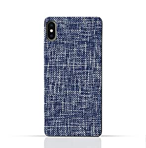 AMC Design Oppo R13 Mobile Protective Case with Brushed Chambray Pattern - Blue