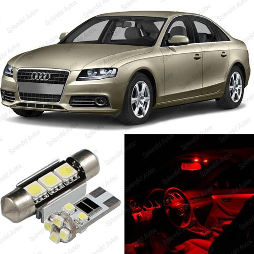 Red Power Package (Splendid Autos Brilliant Red LED Audi A4/S4 B8 Interior Package Deal 2009 - 2012 (10 Pieces))