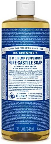 Dr. Bronner's Pure-Castile Liquid Soap - Peppermint 32oz.