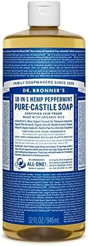 Dr. Bronner's Pure-Castile Liquid Soap - Peppermint 32oz