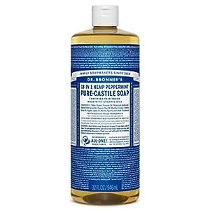 Dr. Bronner's Pure-Castile Liquid Soap - Peppermint 32oz.