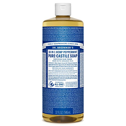 (Dr. Bronner's Pure-Castile Liquid Soap - Peppermint 32oz.)