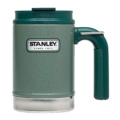 Stanley Classic Vacuum Camp Mug 16oz Hammertone Green,16-Ounce