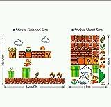 Super Mario Bros Classis 8 Bit Wall Decal Old School Nintendo 1980's