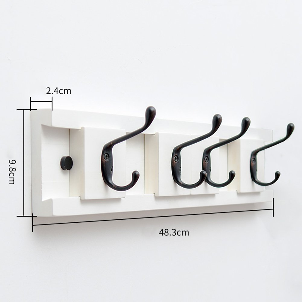 JIANFEI 壁掛けフック ウォールハンガー 水平 調節可能な 間隔 フックアップ、 竹 ( 色 : 白 , サイズ さいず : 48.3*2.4*9.8cm ) B07BDLJXYG 48.3*2.4*9.8cm|白 白 48.3*2.4*9.8cm