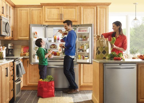 Frigidaire Gallery Appliance Package with French Door Refrigerator, Double Oven Convection Range, Integrated Dishwasher and Over-the-Range Microwave (FGEF306TMF, FGHB2856PF, FGHD2465NF, FGMV174KF) PKG #LD02