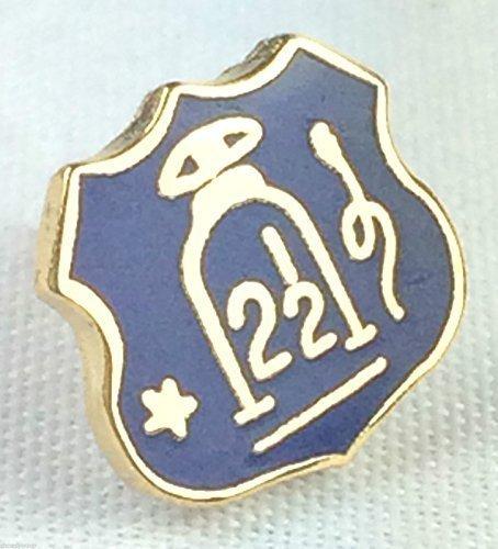 Orange Lodge Bouclier Forme 21/2Pin's (épinglette Badge en émail bleu