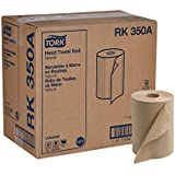 "Tork Universal RK350A Hardwound Paper Roll Towel, 1-Ply, 7.87"" Width x 350' Length, Natural, Green Seal Certified (Case of 12 Rolls, 350 per Roll, 4,200 Feet)"