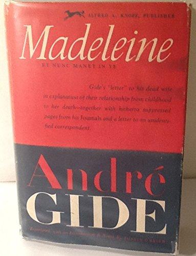 Madeleine (Et Nunc Manet In Te), Andre Gide