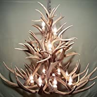 Amazon real whitetail deer antler chandelier 4 lights shed the antler chandelier aloadofball Gallery