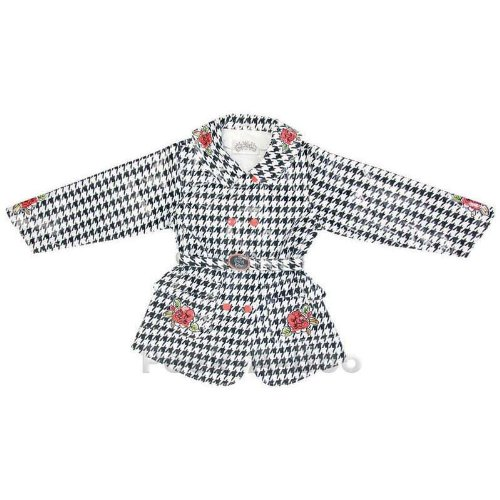 Kidorable English Roses Raincoat, Houndstooth, 2T by Kidorable (Image #2)