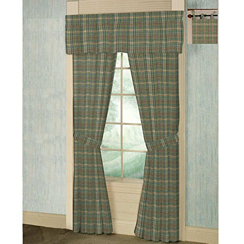 Plaid Curtain Bed (Patch Magic Green/Yellow Plaid Bed Curtain Pair, 40
