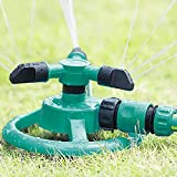SingPad Lawn Sprinkler,Automatic Garden Water Sprinklers Lawn Irrigation System,360°Rotating Leak Free Durable 3 Arm Sprayers for Garden,Lawns,Yard