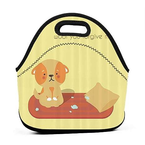 0c92384af2e8 Amazon.com: Convenient Lunch Box Tote Bag Dog Lover Decor Collection ...