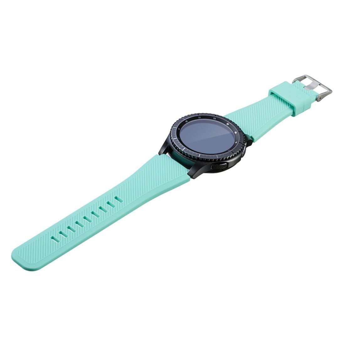 Altsommer F/ür Samsung Gear S3 ClassicSilikon Uhrenband mit Schnellverschluss f/ür Klassische Uhr und SmartwatchUhr-Armband-B/ügel-Band,Gro/ße Farbauswahl,Weiche Gummi Uhr Band Armee gr/ün