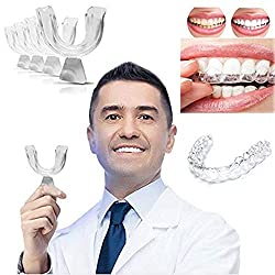 Gofypel Mouth Guard, Night Guards for Grinding Teeth Custom Thermoplastic Dental Trays Thermoforming Dental Teeth Whitening Professionals Kit 4 PACK