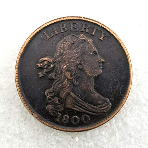 MarshLing 1800 Antique US Liberty Old Half-Cent Coin - Great American Commemorative Coins - USA Uncirculated Morgan Dollars-Discover History of Coins Perfect Quality ()
