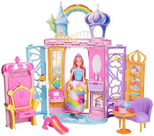 (Barbie Dreamtopia Rainbow Cove Doll and Castle)