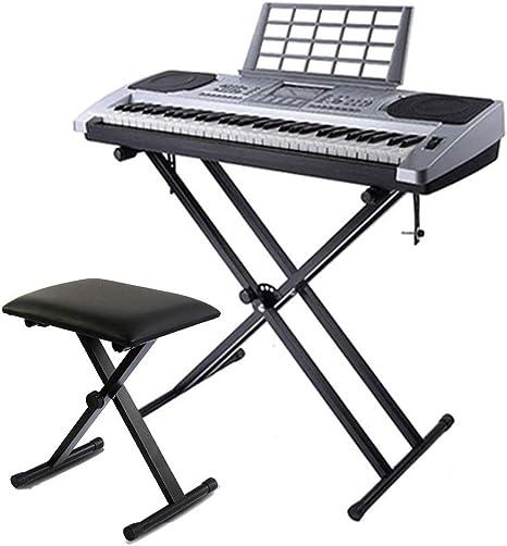 WHR-HARP Soporte de Piano con Silla para Teclado de 61 Teclas ...