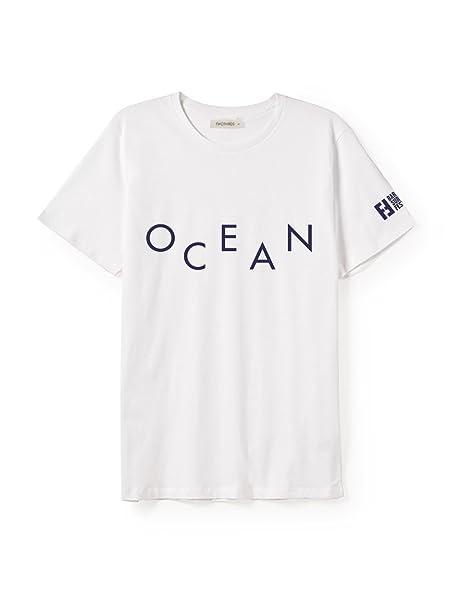 TWOTHIRDS Camiseta Hombre - 100% algodón orgánico - Ocean Surf Film Festival (Medium)