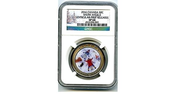 RCM Canada 2016 SNOW ANGELS 50-Cent Lenticular Coin