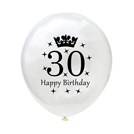 Amazon.com: Juego de 10 globos de color blanco 12