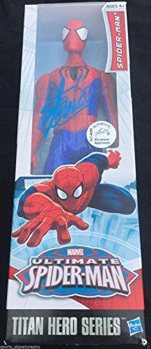 STAN LEE SIGNED MARVEL ULTIMATE SPIDER-MAN FIGURE TITAN HERO SERIES HOLOGRAM K91