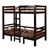 Joaquin Twin over Twin Convertible Loft Bed Brown Review