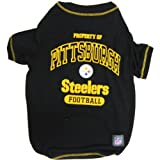 Pets First NFL Pittsburgh Steelers T-Shirt, Large, My Pet Supplies