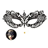 Masquerade Mask for Women Shiny Rhinestone Venetian Party Prom Ball Metal Mask (Butterfly)