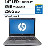 2016 HP 14 Elitebook 8470P Laptop PC with Intel Core i5-3320M Processor, 8GB Memory, 256GB SSD and Windows 7 Professional (Certified Refurbished)