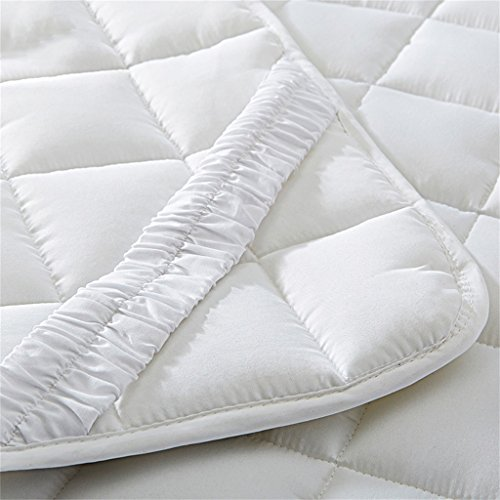 Épaisseur 2cm Matelas De Protection Matelas Antidérapant Matelas De Protection, Fibre De Polyester Rempli (Blanc) ( taille : 200*200cm )
