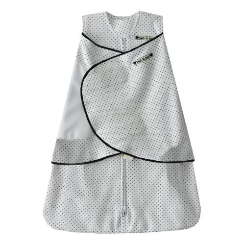 HALO 100% Cotton SleepSack Swaddle, Navy Pin Dot, Small