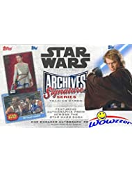 2018 Topps Star Wars Archives Signature Series EXCLUSIVE Factory Sealed HOBBY Box with #'d Stamped Encased BUYBACK AUTOGRAPH! Look for Autos from over 100 Cast Members from Across the Saga! WOWZZER!