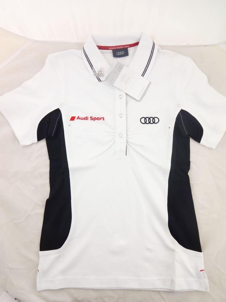 Original Audi Sport blanco y negro Ladies de la marca Polo de ...