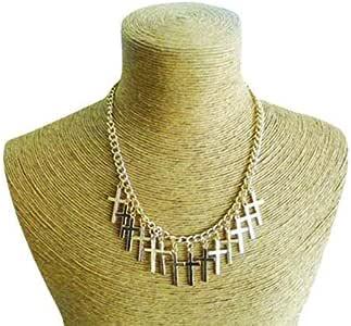 Schakespeare Women's Gold Cross Pendant Necklace