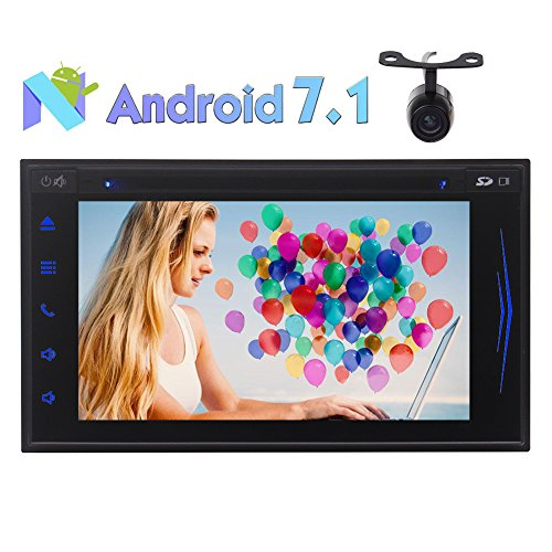 6.2'' Octa-core Android Car DVD Player Android 7.1 System in Dash GPS Navigation Bluetooth Autoradio Stereo HD Digital Touchscreen Receiver 2GB RAM 32GB ROM Wifi USB/SD Phone Link + Reverse Camera by EinCar
