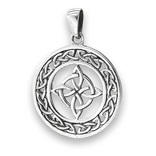 (Knot Celtic Pendant .925 Sterling Silver Infinity Band Cross Loop Circle Charm - Silver Jewelry Accessories Key Chain Bracelet Necklace Pendants)