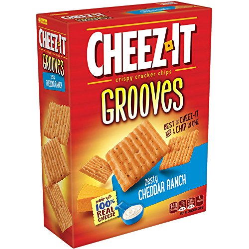 PACK OF 13 - Cheez-It Grooves Zesty Cheddar Ranch Crispy Cracker Chips, 9 oz by Cheez-It (Image #2)