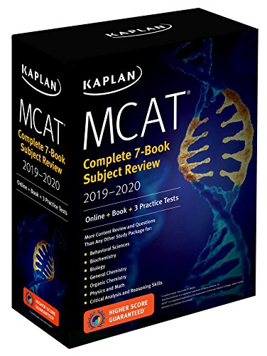 MCAT Complete 7-Book Subject Review 2019-2020: Online + Book + 3 Practice Tests (Kaplan Test Prep) cover