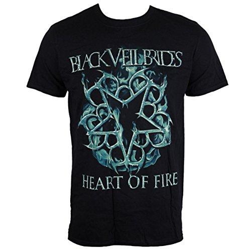 Herren T-Shirt Black Veil Brides - Heart Of Fire - schwarz - LIVE NATION - PE136