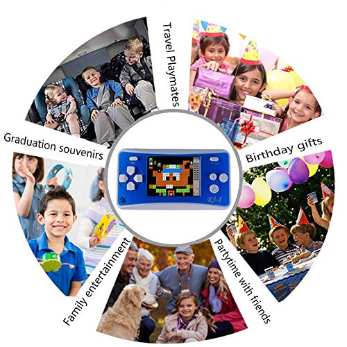 Handheld Game Console for Children,The 80's Arcade Retro Game Player with 2.5'' 8-Bit LCD Portable Video Games Can Connected TV,Built-in 152 Classic Old School Game(Blue1) by Sokolp (Image #6)