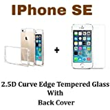 M.G.R.J Tempered Glass + Transparent Back Cover [Combo Pack] for Apple iPhone SE