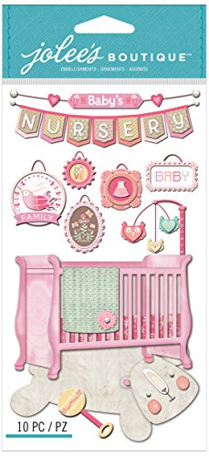 Jolee's Boutique Dimensional Stickers, Baby Girl Nursery