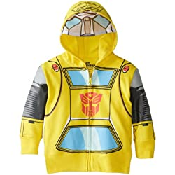 Transformers Toddler Boys' Bumblebee Character Hoodies, Yellow, 4T