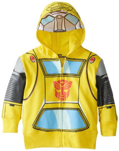 Transformers Toddler Boys' Bumblebee Character Hoodies, Yellow, 4T]()