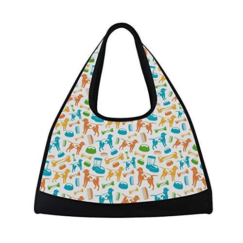 Tommying Sophy Tennis Racket Bag/Badminton Bag/Table Tennis Bag/Gym Bag/Short-Distance Travel Bag Dog Halloween Costume]()