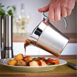 Double Insulated Gravy Boat – Stainless Steel Sauce Jug with Hinged Lid